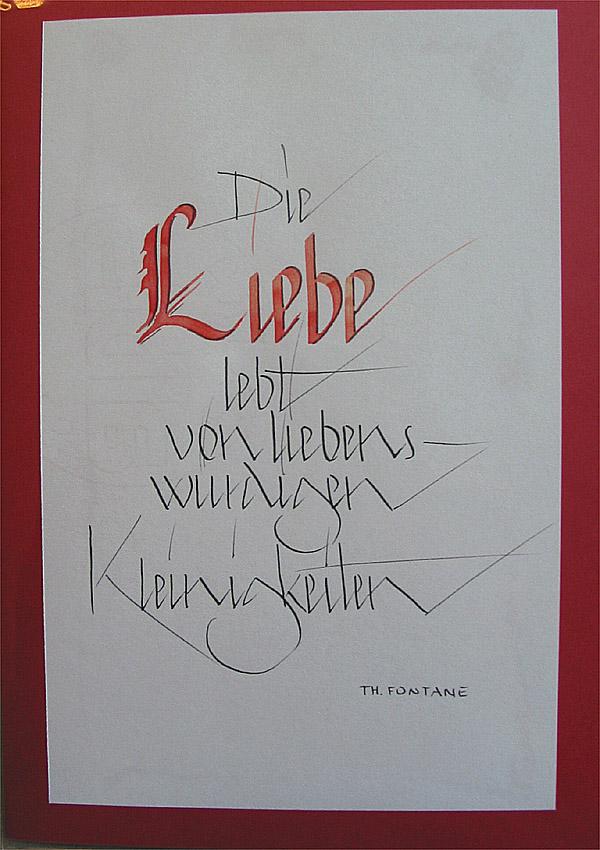 Card And Art Acrylbilder Und Individuelle Kalligrafie